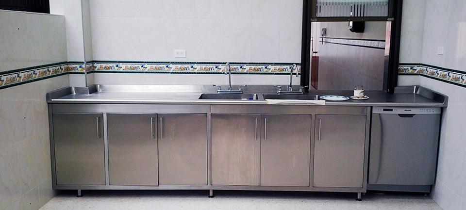 Muebles cocinas y divisiones para ba o en acero - Muebles de cocina inox ...